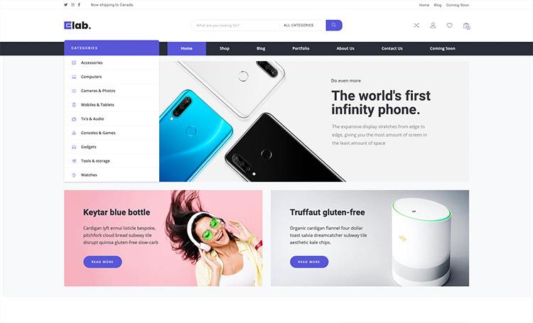 eLab – Multi Vendor Marketplace WordPress Theme