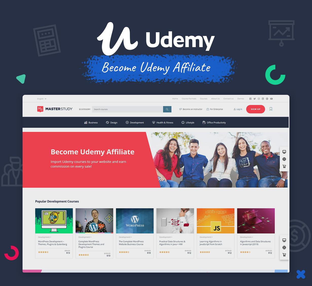 Education WordPress Theme Udemy Affiliate Programme