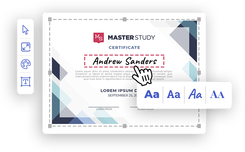 Certificate builder LMS