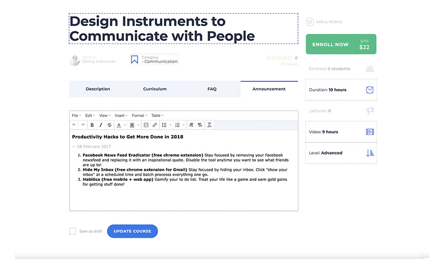 Frontend Course Builder