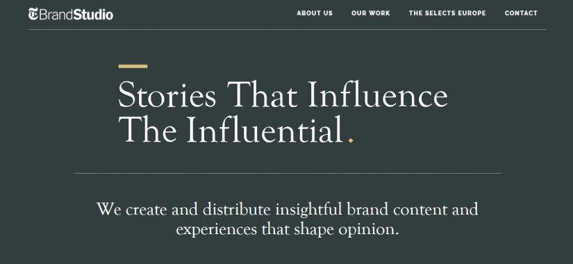 T Brand Studio - проект New York Times