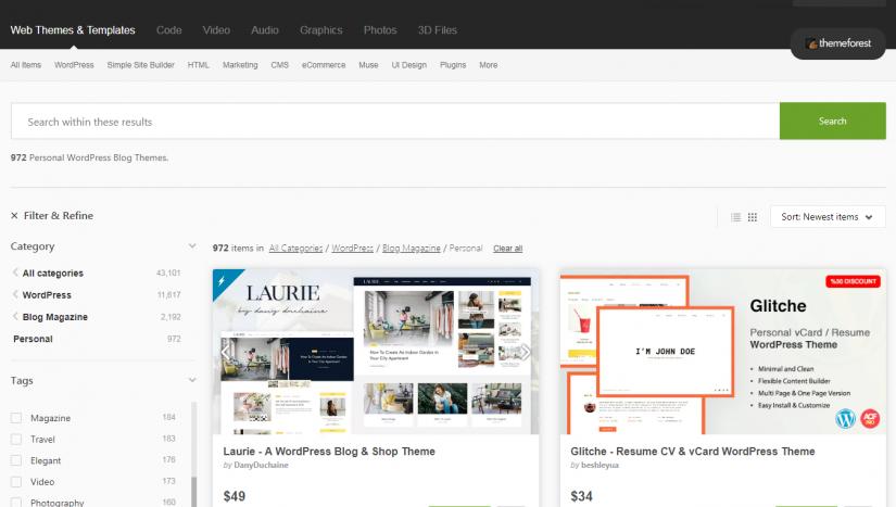 ThemeForest - маркетплейс WordPress тем
