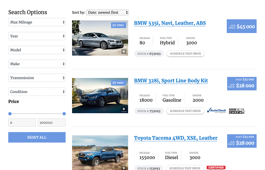 Motors Car Dealer, Classifieds & Listing