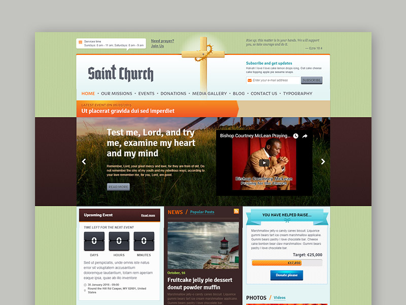 Free WordPress Theme for Church and Faith Commune
