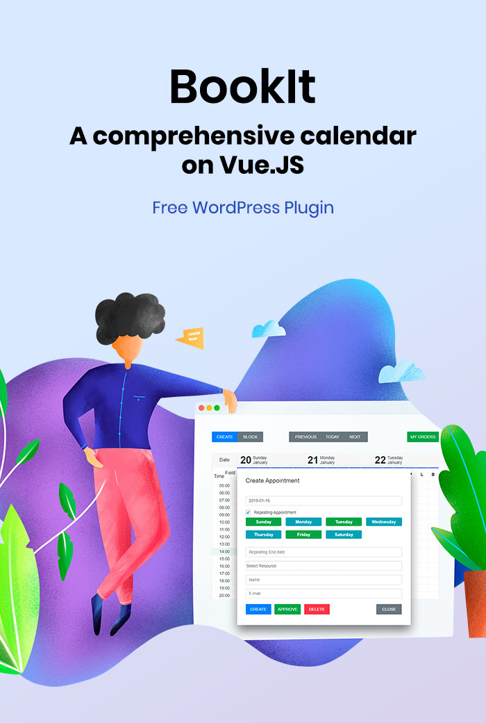 BookIt Appointment Calendar