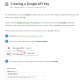 Creating Google API Key