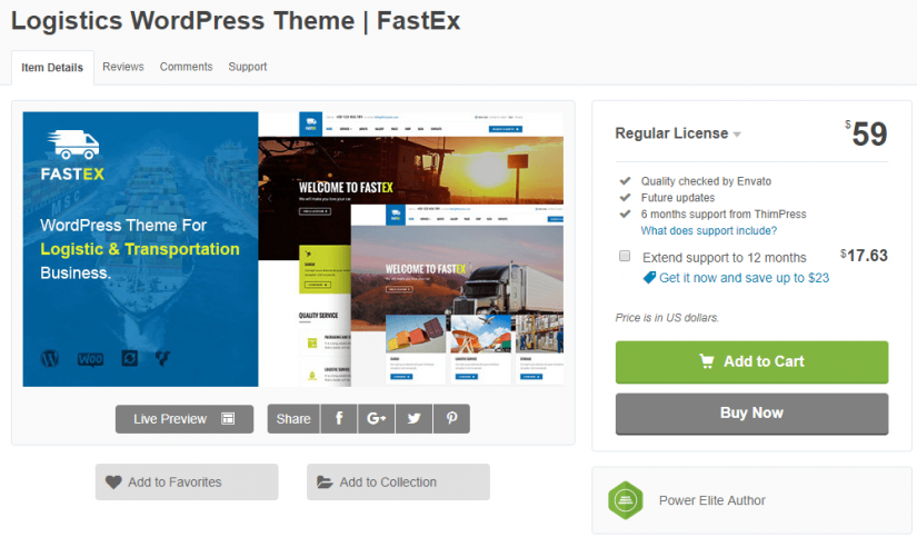 Transport WordPress Themes 2019 | StylemixThemes