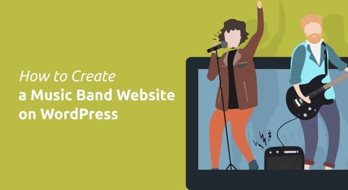 Band website on WordPress