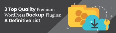 Top quality premium WordPress backup plugins