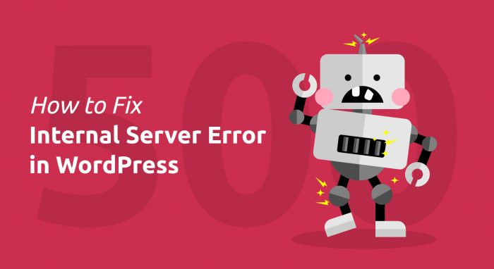 Internal Server Error in WordPress