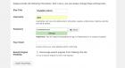 WordPress Installer credentials page.