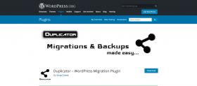 Duplicator plugin homepage