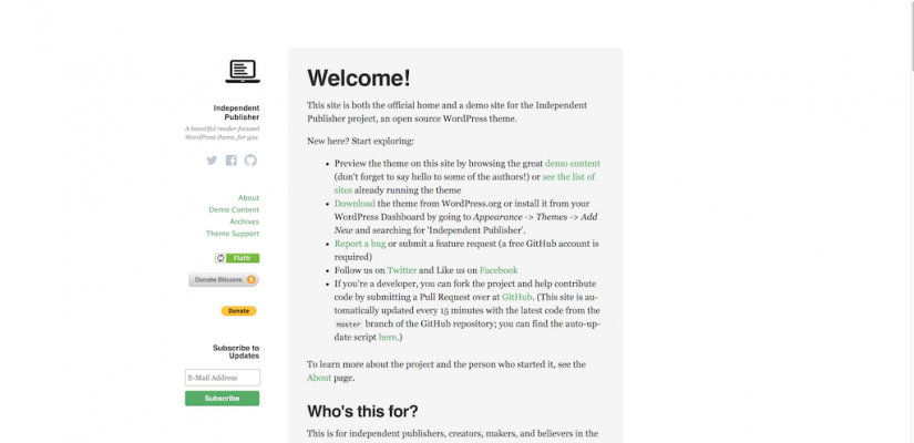 Independent Publisher – A beautiful reader focused WordPress theme for you