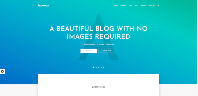 Typology – A beautiful blog with no images required