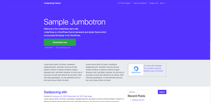 Understrap Demo – Just another WordPress site