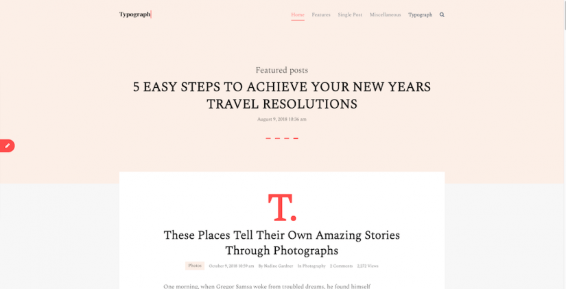 typograph – A typography driven blog