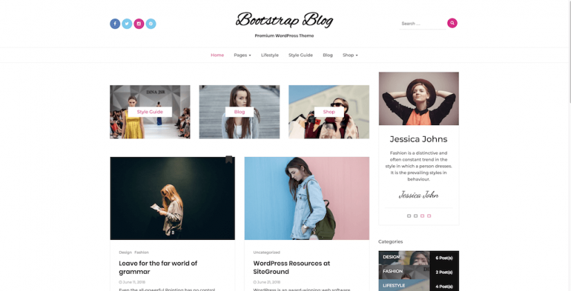 15 Stunning WordPress Themes Based on Bootstrap 4 x   StylemixThemes