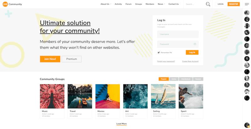 15 BuddyPress Themes to Create a Community Site | StylemixThemes