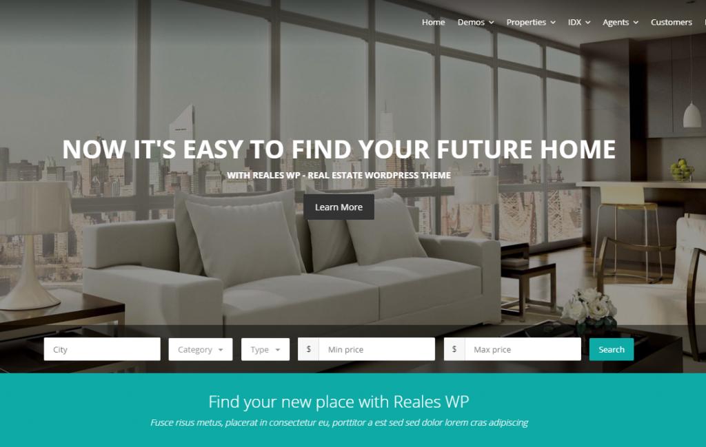 responsive real estate theme