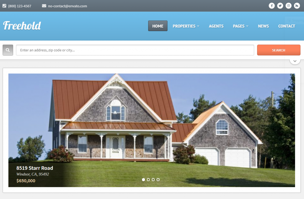 for sale by owner wordpress theme