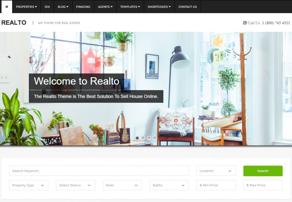 wordpress for real estate agent