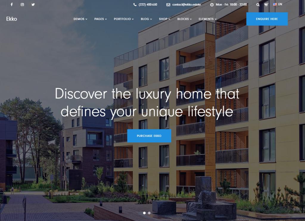 real estate theme in wordpress